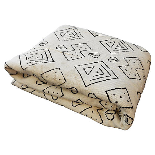 Geometric Mud-Cloth Textile