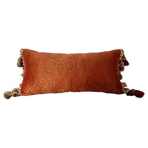 Lumbar Silk Paisely Pillow