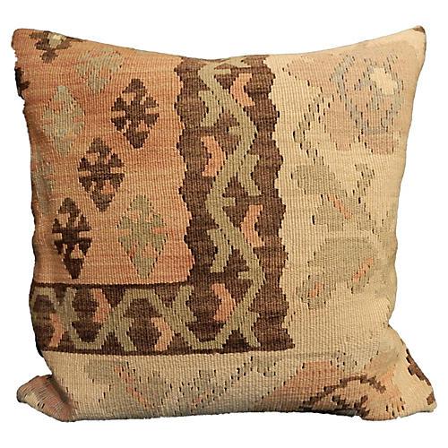 Old Turkish Tribal Kilim Pillow