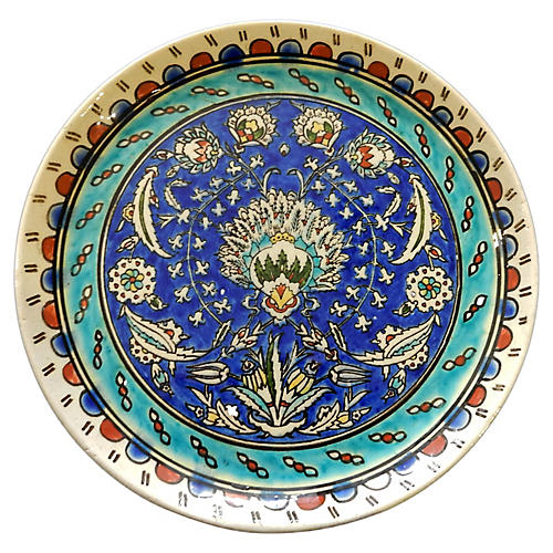 Old Ottoman Iznik Carnation Plate
