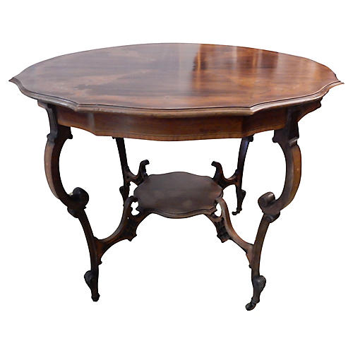 Old French Marquetry Inlaid Table