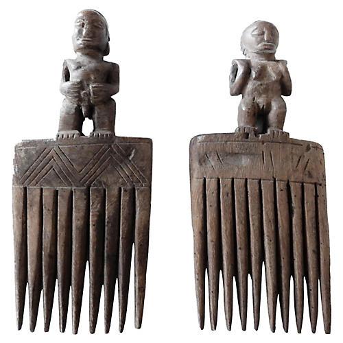 Baule Combs, Pair