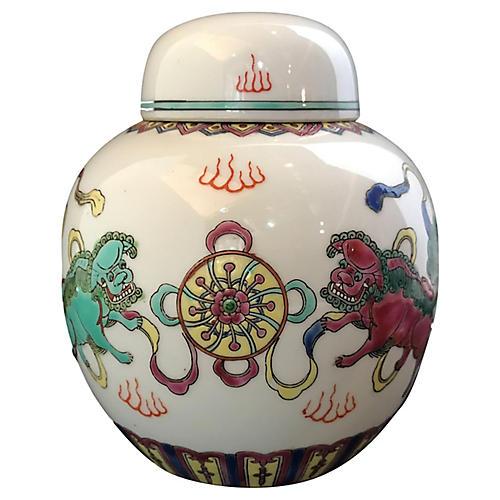 Famille Rose Ginger Jar