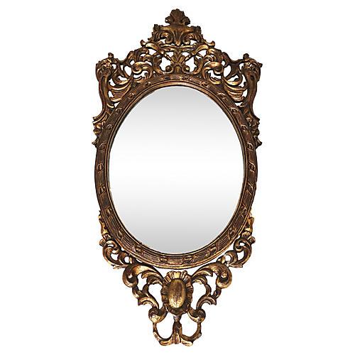 French Louis XVI Rococo Ornate Mirror