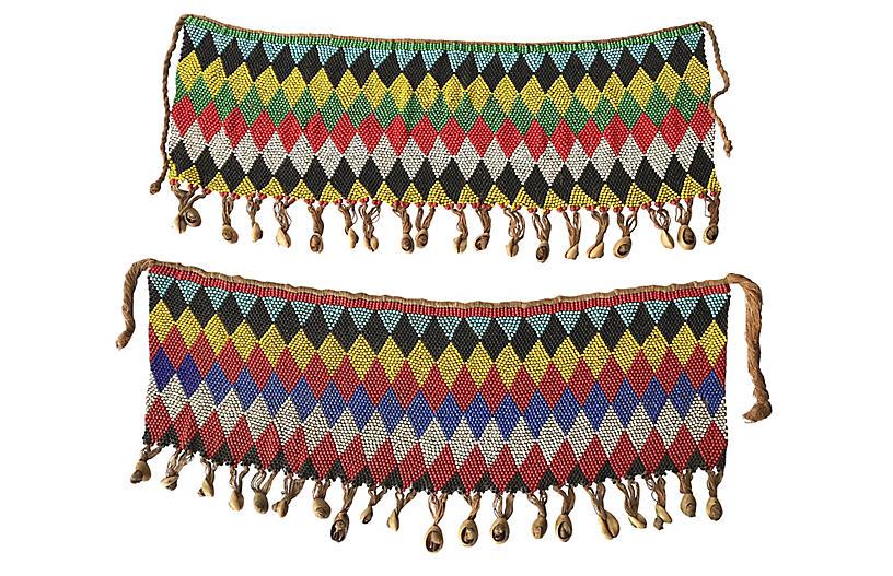 Kirdi Beaded Ceremonial Skirt, S/2