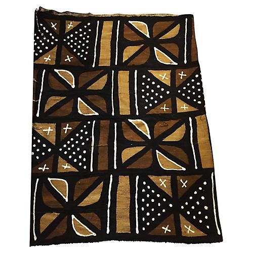 """Malian Mud-Cloth Textile, 42"""" x 64"""""""