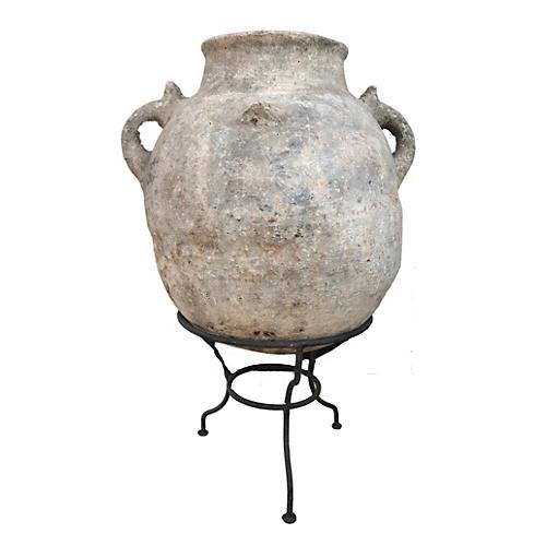 Large Saharian Terracota Pot w/ Stand