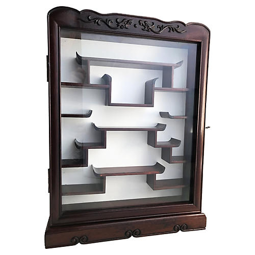 Chinese Rosewood Wall Cabinet