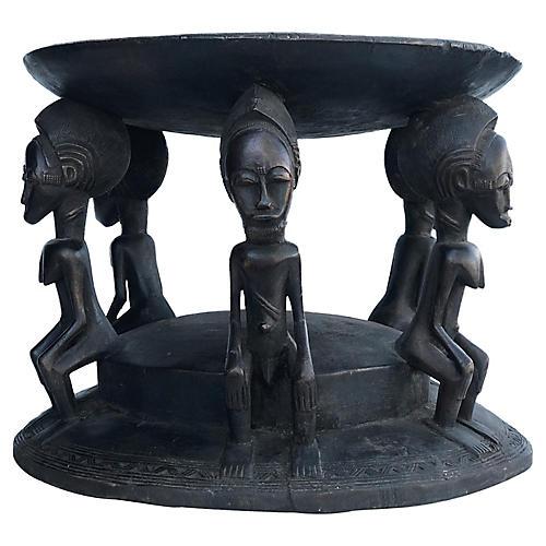 Tanzanian Makonde Figural Stool/Table