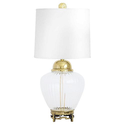 Brass & Glass Ginger Jar Lamp