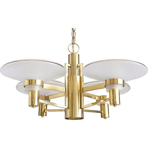 4-Arm Modernist Chandelier