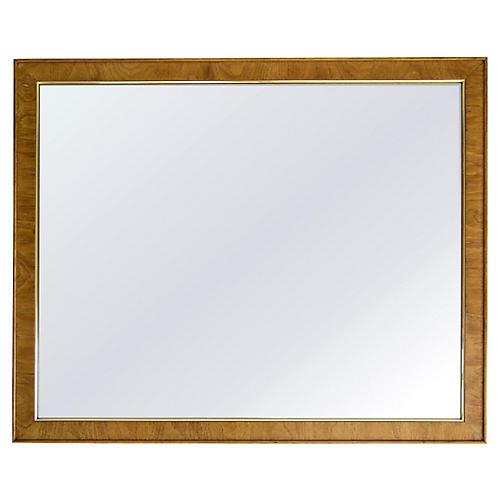 Large Oak Mirror w/ Gold Trim