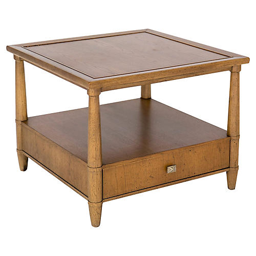 Henredon Two-Tier Table w/ Drawer
