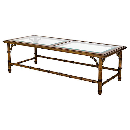 Faux Bamboo Coffee Table by Lane