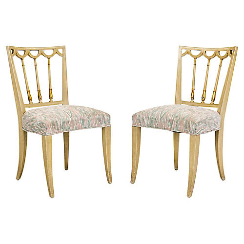 Italian Neoclassical Side Chairs, Pair