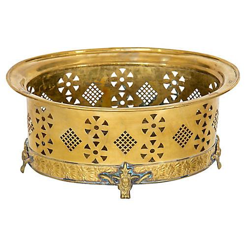 Pierced Brass Centerpiece by Mottahedeh
