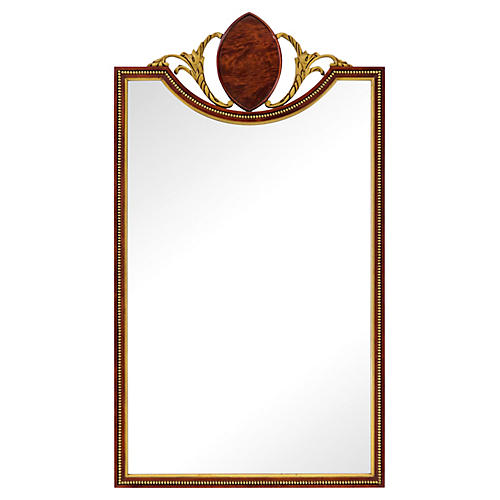 Gilded Mahogany Inverted Arch Mirror