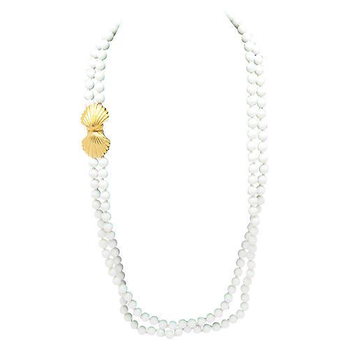 Les Bernard Shell Clasp Necklace