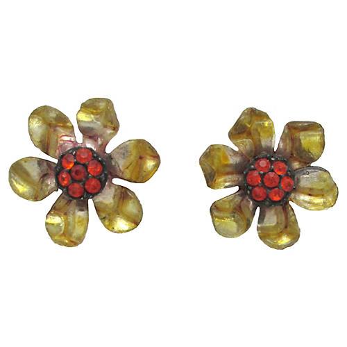 Daisy Flower Earrings w/ Foil Backs