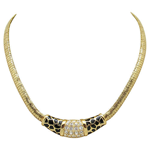 Swarovski Leopard Print Necklace