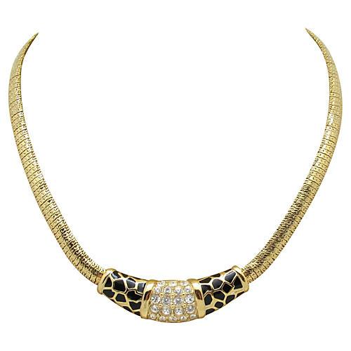 Swarovski Leopard Print Necklace