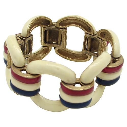 1960s Enameled Link Bracelet