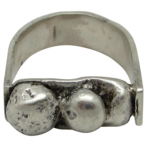 Sterling Modernist Ring