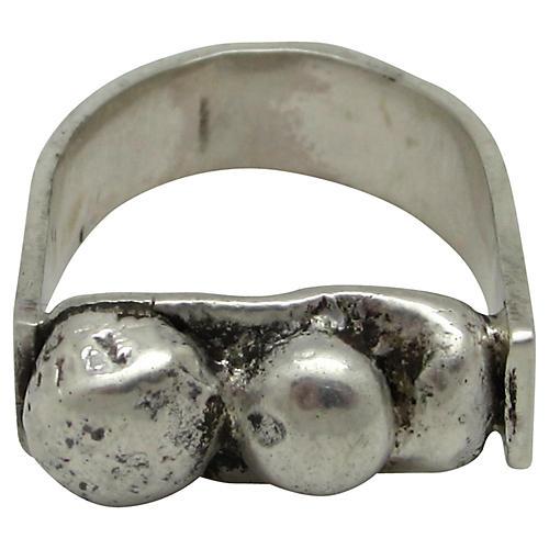 Sterling Modernist Ring