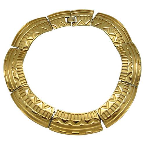 Monet Aztec Design Collar Necklace