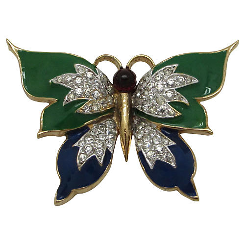 Panetta Enameled Butterfly Pin