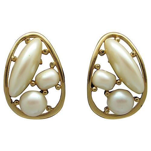Givenchy Faux-Pearl Earrings