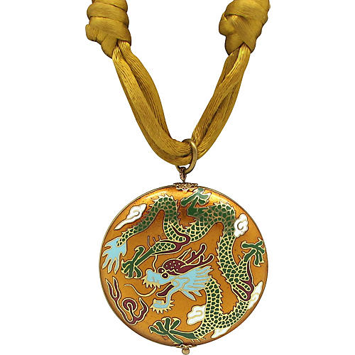 Dragon Cloisonné Pendant Necklace