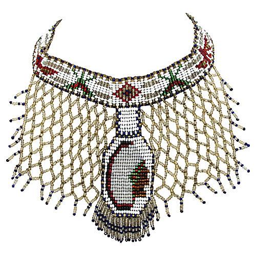 Native American-Style Woven Bead Choker