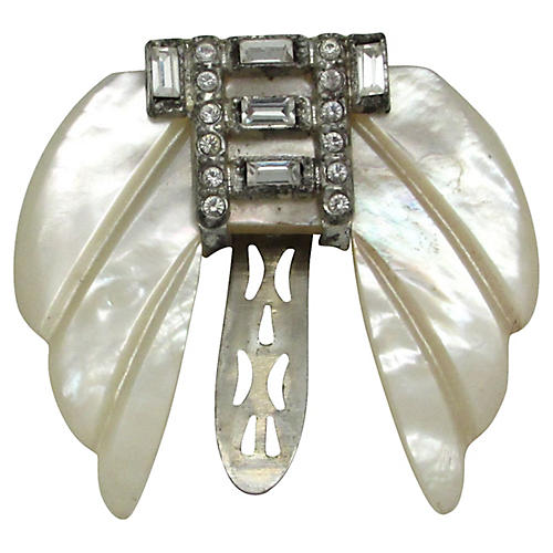 Mother-of-Pearl Dress Clip