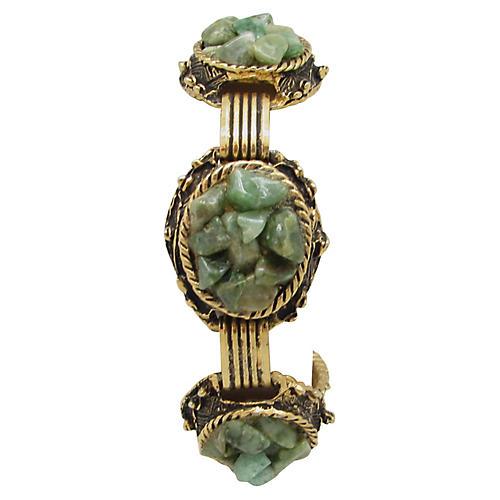 Ornate Link Bracelet w/ Agate Chips