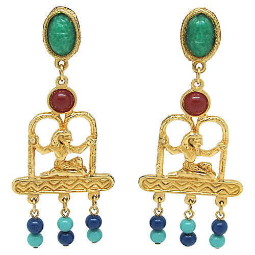 Accessocraft NYC Egyptian-Style Earrings