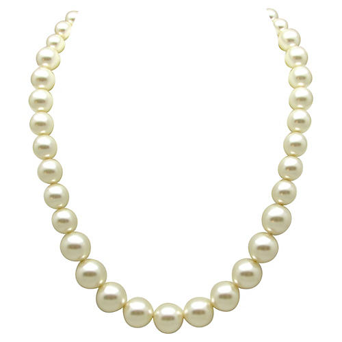 Graduated Faux-Pearl Necklace