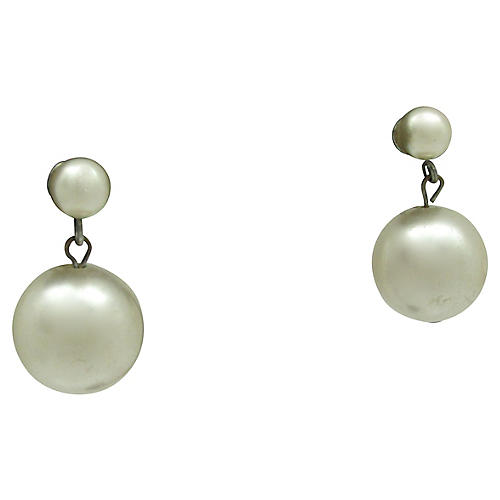 Double Faux-Pearl Earrings