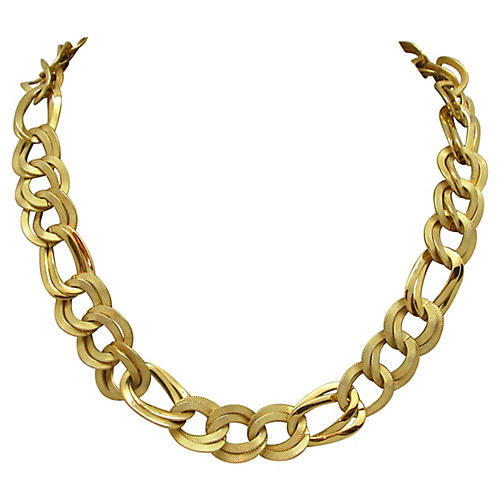Dual Texture Double-Link Necklace