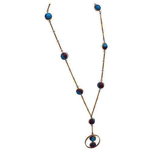 1970s Dual-Color Bead Necklace