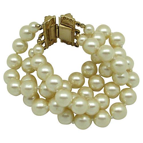 Carolee Faux-Pearl Multi-Strand Bracelet