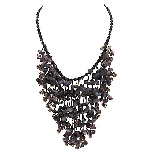 Festoon Necklace with Amethyst Beads