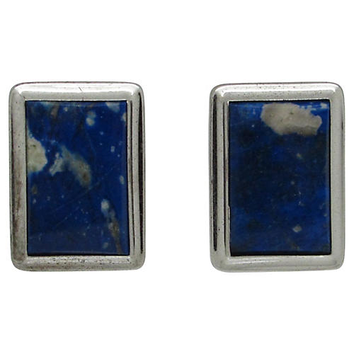 Van Guard Sterling & Lapis Cuff Links