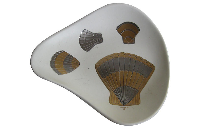 1950s Sascha Brastoff Shell Bowl