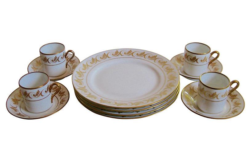 Ginori Porcelain Set, Svc for 4