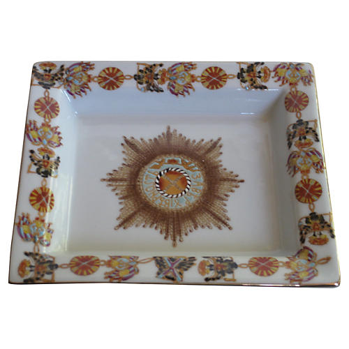 Enameled Gilt Porcelain Tray