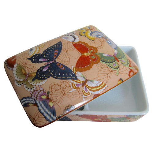 Porcelain Butterfly Box