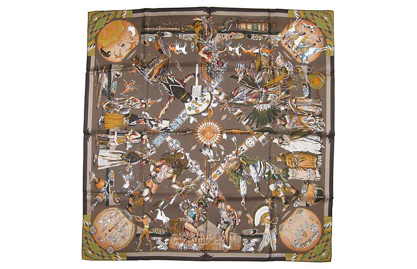 Hermès K. Oliver Danses Indiens Scarf