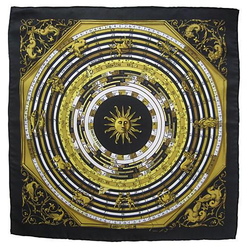 Hermès Astrologie Pochette Scarf