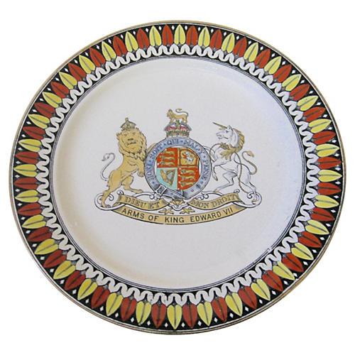 Antique English King Edward VII Plate